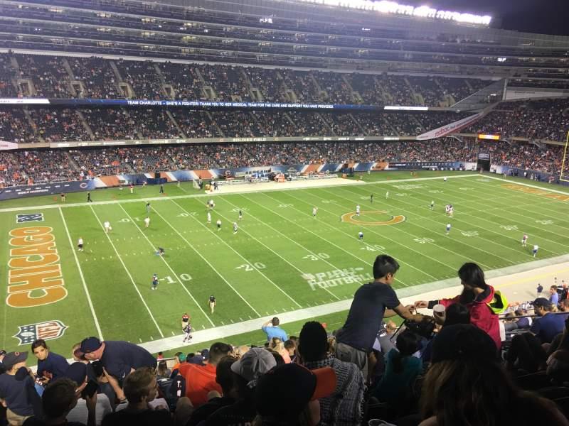 Soldier Field, vak: 342, rij: 15, stoel: 7