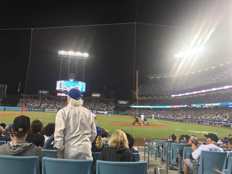 Dodger Stadium, vak: 9fd, rij: A, stoel: 3