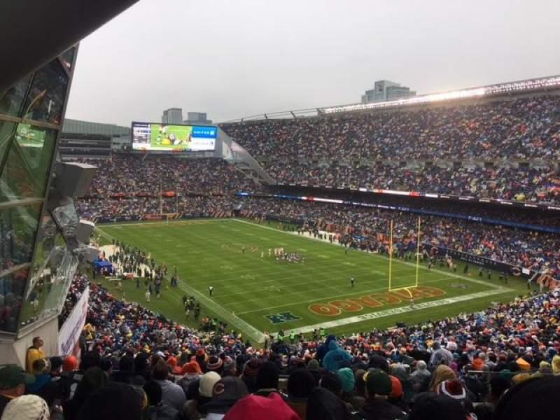 Soldier Field, vak: 356, rij: 12, stoel: 4