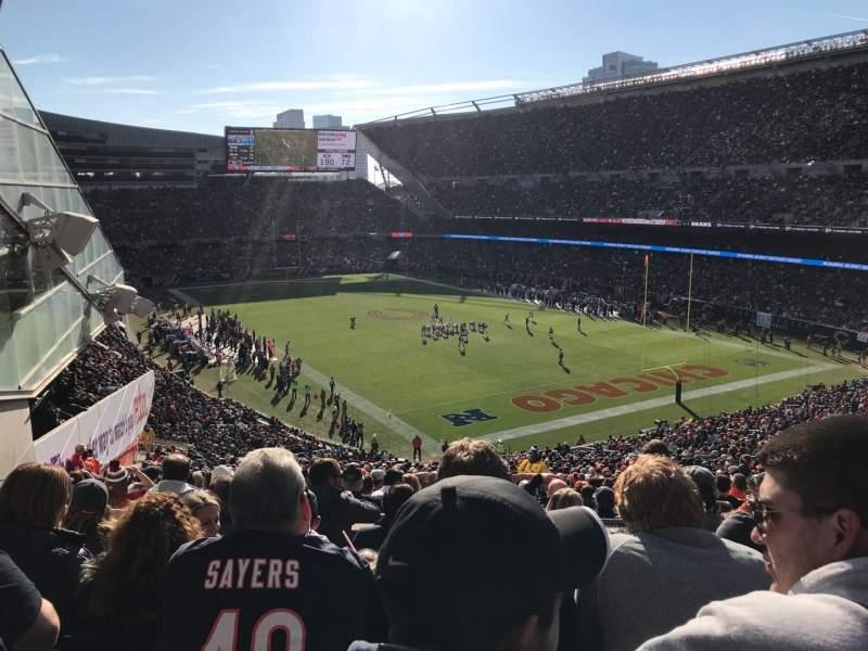 Soldier Field, vak: 356, rij: 6, stoel: 7