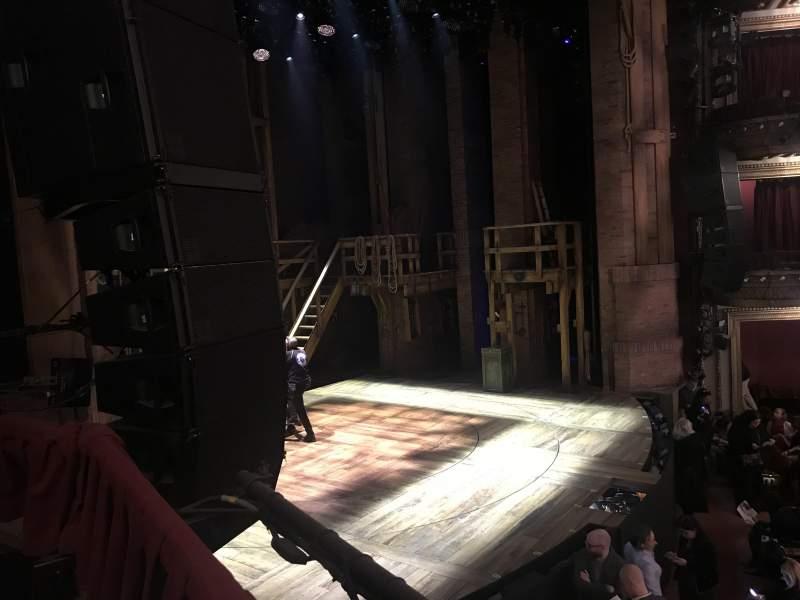 Uitzicht voor CIBC Theatre Vak Dress Circle Rij Box 3 Stoel 1