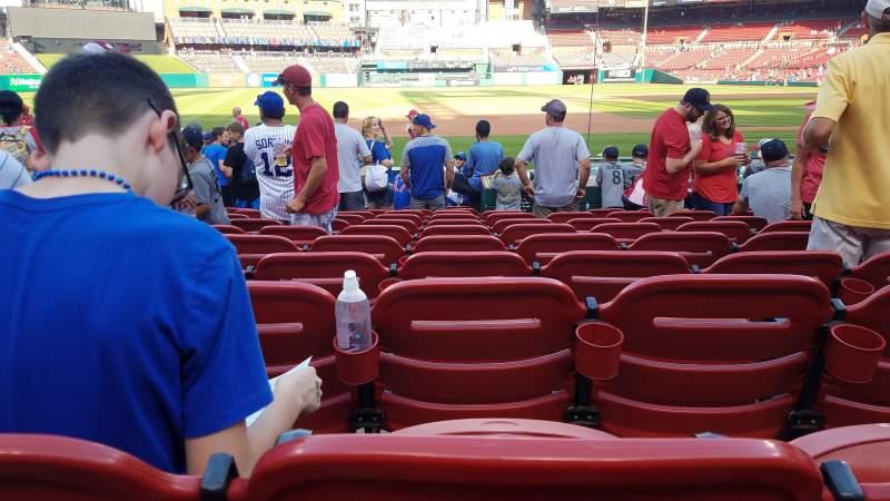 Busch Stadium, vak: 158, rij: 2, stoel: 8