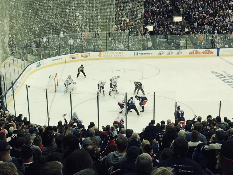 Nationwide Arena, vak: 106, rij: Y, stoel: 1
