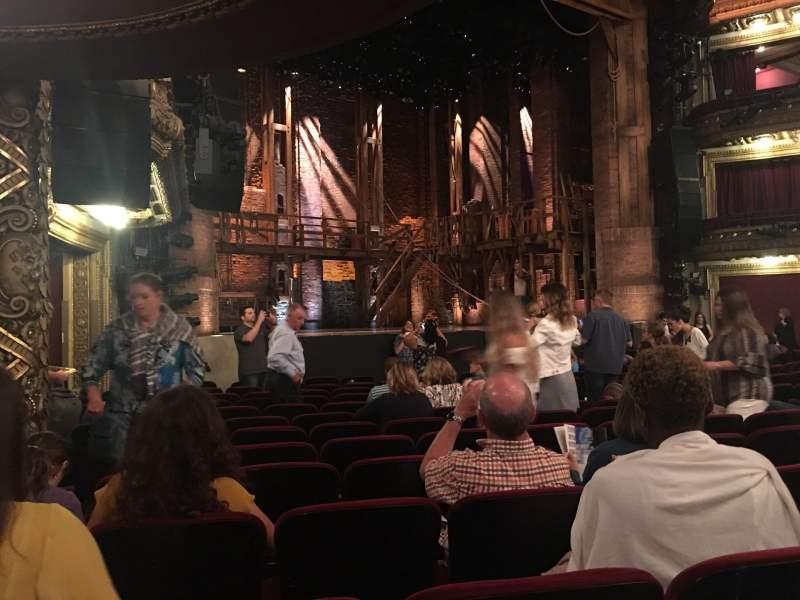 CIBC Theatre, vak: Orchestra L, rij: P, stoel: 21, 23