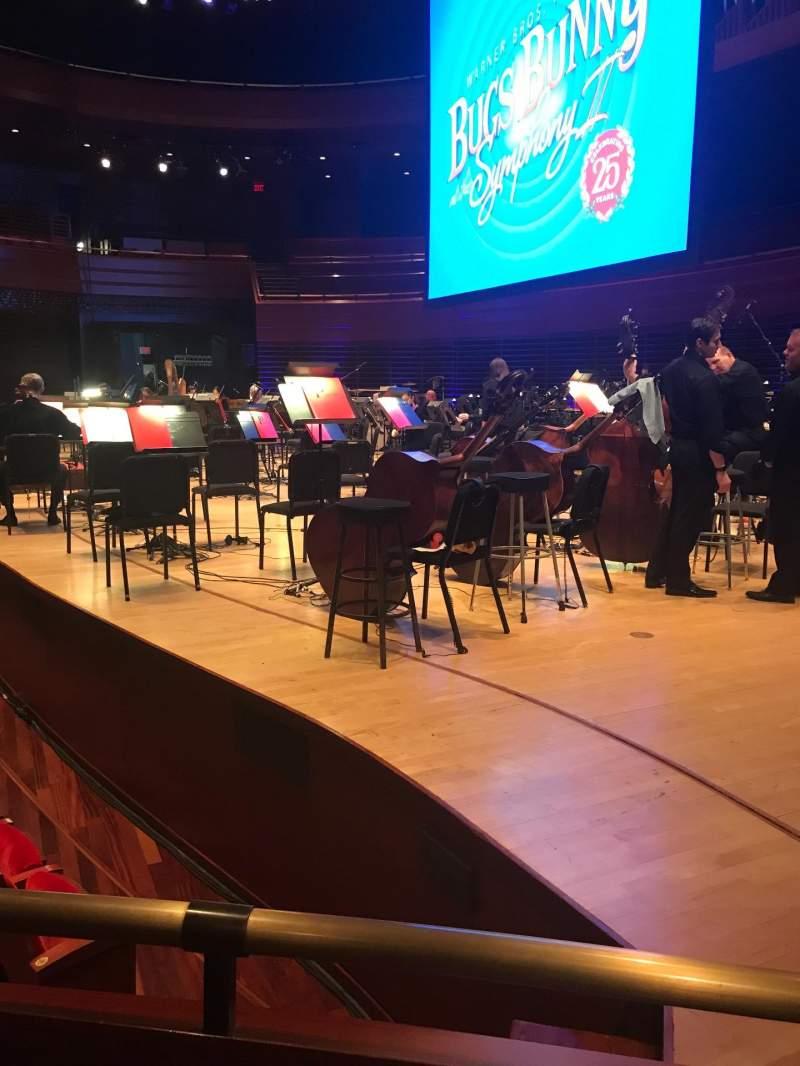 Uitzicht voor Verizon Hall at the Kimmel Center Vak Orchestra Rij Box 1 Stoel Seat 2