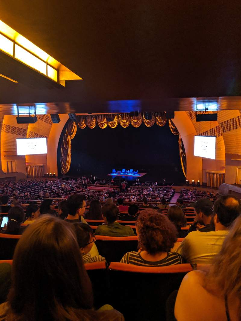 Uitzicht voor Radio City Music Hall Vak 1ST Mezzanine 2 Rij K Stoel 204