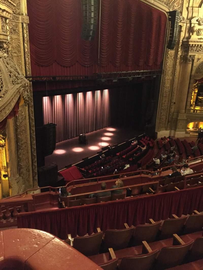 Uitzicht voor Chicago Theatre Vak Balcony Box 3 Rij A Stoel 23-25