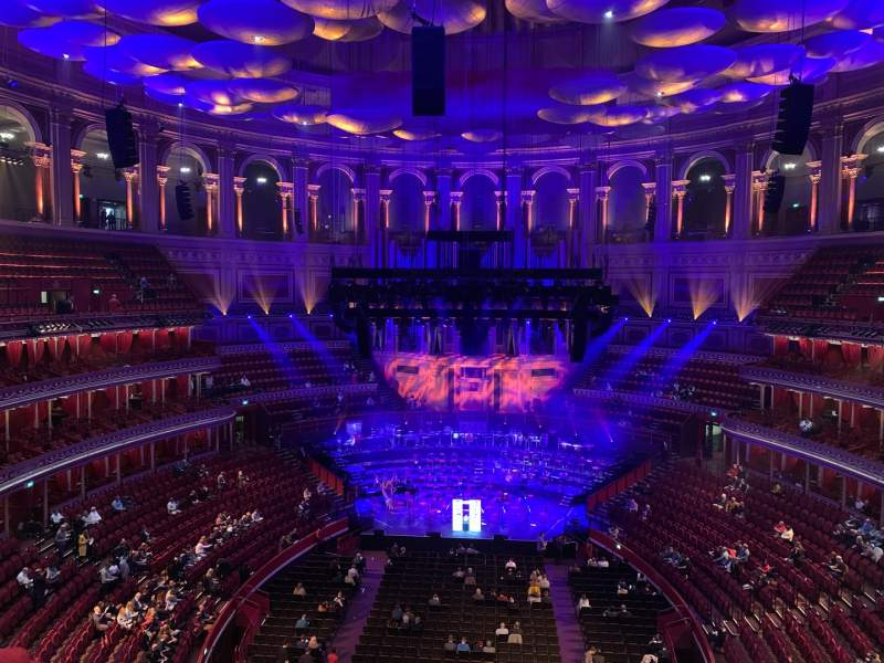 Uitzicht voor Royal Albert Hall Vak Rausing Circle U Rij 3 Stoel 94
