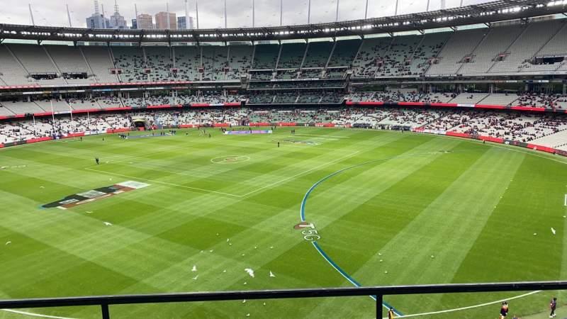 Uitzicht voor Melbourne Cricket Ground Vak Q12 Rij C Stoel 7