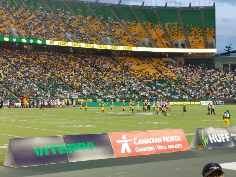 Uitzicht voor Commonwealth Stadium (Edmonton) Vak L Rij 3 Stoel 4