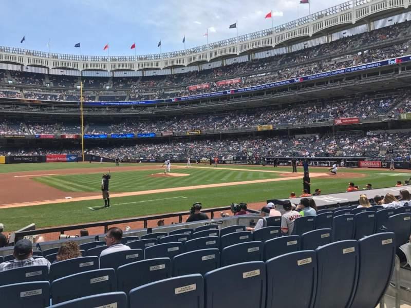 Yankee Stadium, vak: 125, rij: 1, stoel: 9