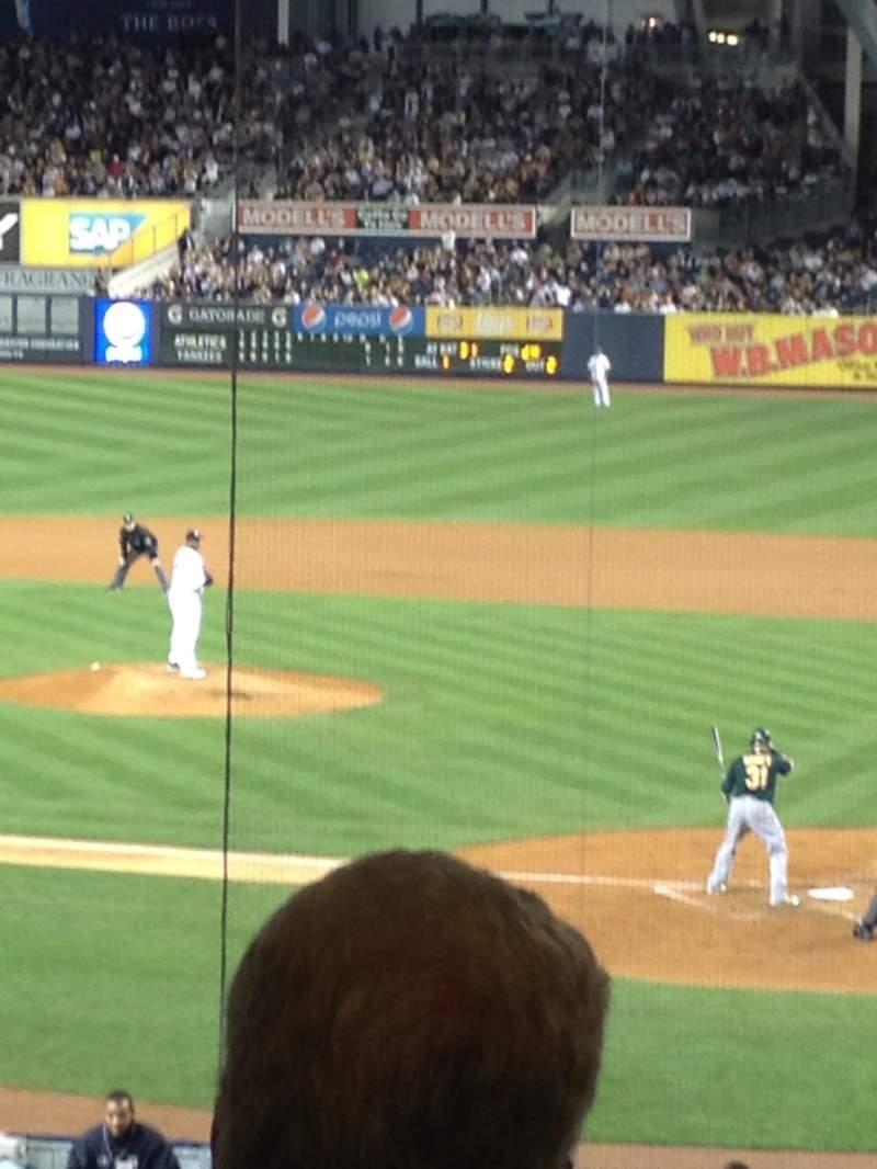 Yankee Stadium, vak: 121b, rij: Cafe, stoel: 1
