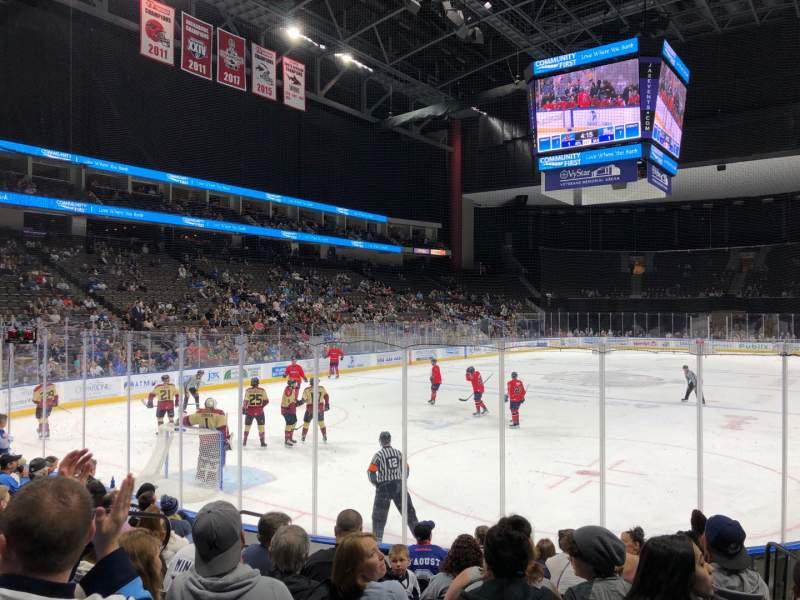 Uitzicht voor VyStar Veterans Memorial Arena Vak 109 Rij D Stoel 10