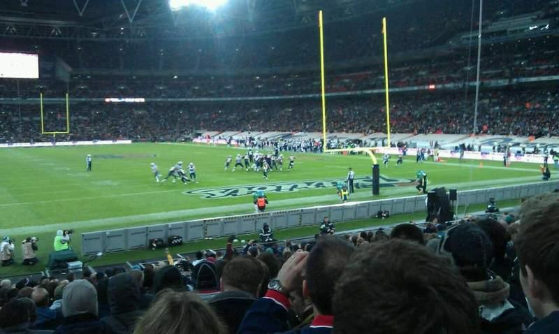 Uitzicht voor Wembley Stadium Vak 135 Rij 20 Stoel 57