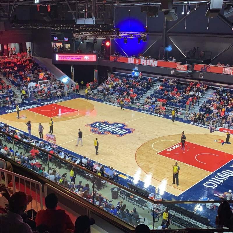Uitzicht voor Entertainment And Sports Arena Vak 202 Rij FF Stoel 6