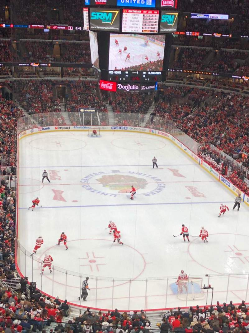 United Center, vak: 310, rij: 5, stoel: 13