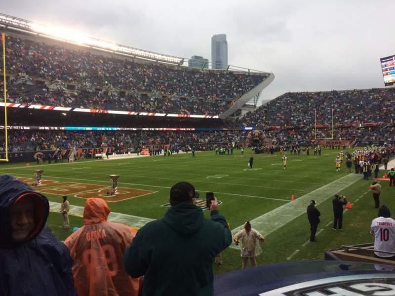 Soldier Field, vak: 119, rij: 10, stoel: 9