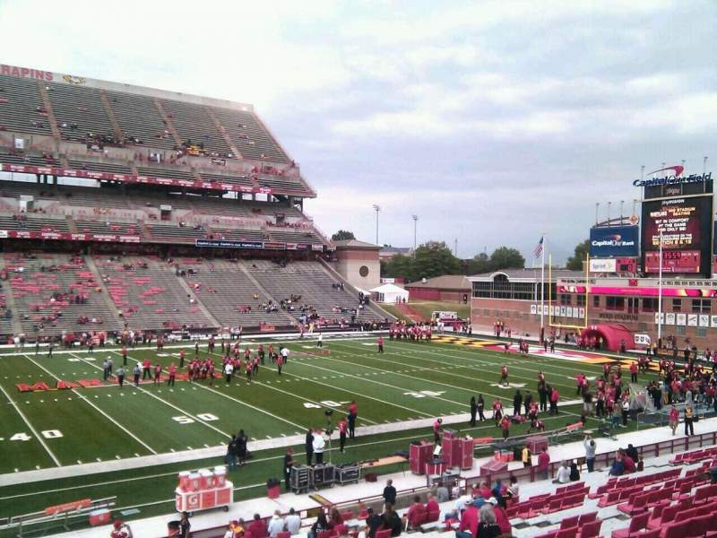 Maryland Stadium, vak: 24, rij: gg, stoel: 4