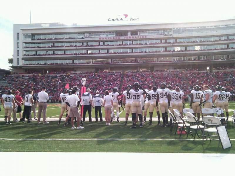 Maryland Stadium, vak: 6, rij: a, stoel: 17
