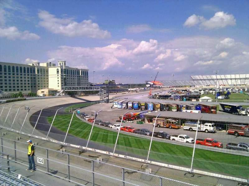 Uitzicht voor Dover International Speedway Vak 143 Rij 14 Stoel 9
