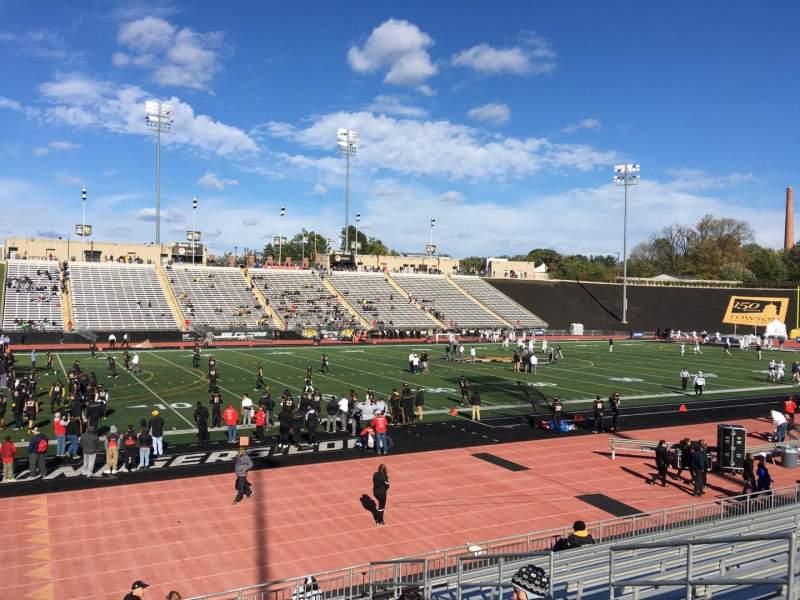 Uitzicht voor Johnny Unitas Stadium Vak 114 Rij N Stoel 8