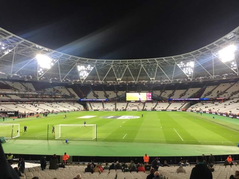 London Stadium, vak: 125, rij: 22