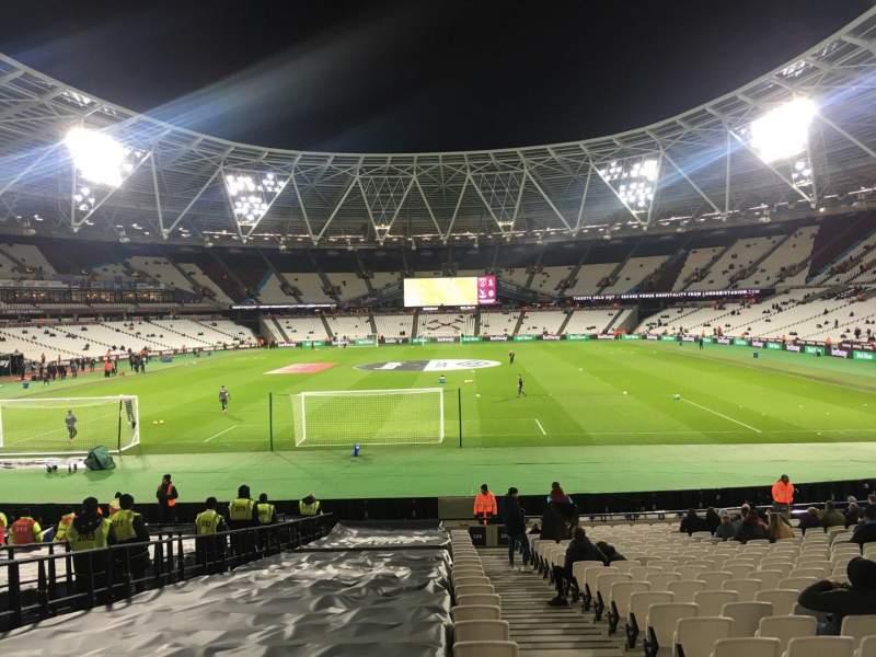 London Stadium, vak: 124, rij: 22