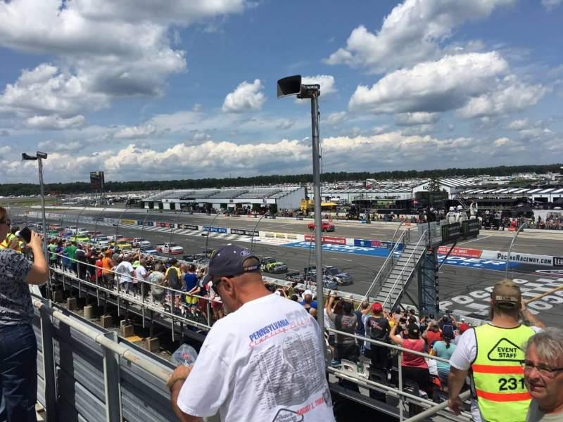 Pocono Raceway, vak: 224, rij: 19, stoel: 1