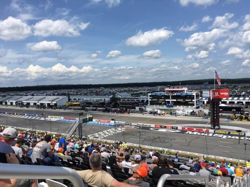 Pocono Raceway, vak: 232, rij: 45, stoel: 1