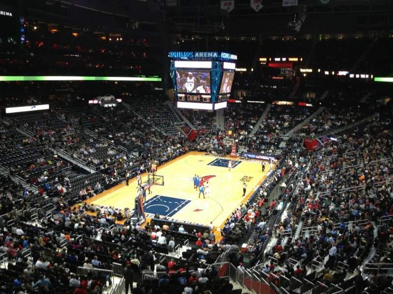 Philips Arena, vak: 316, rij: A, stoel: 14