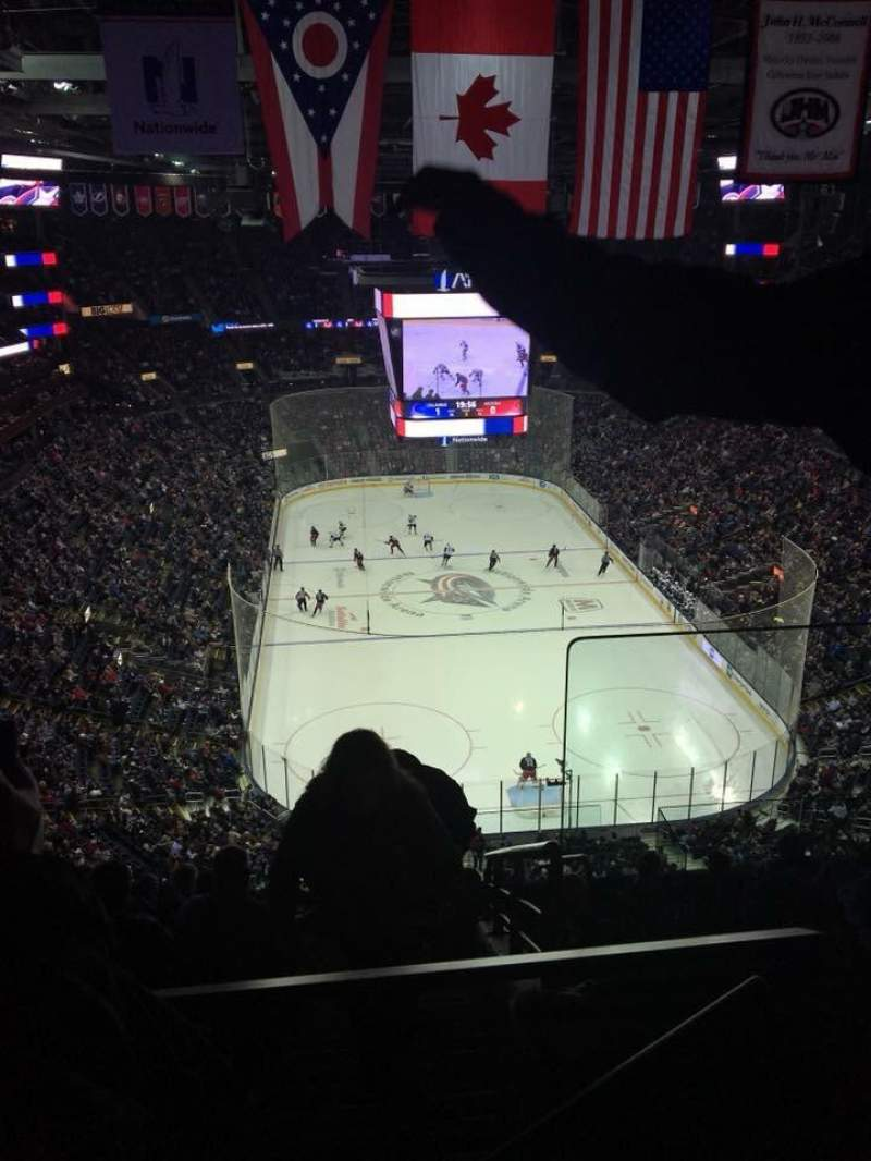 Nationwide Arena, vak: 211, rij: K, stoel: 1