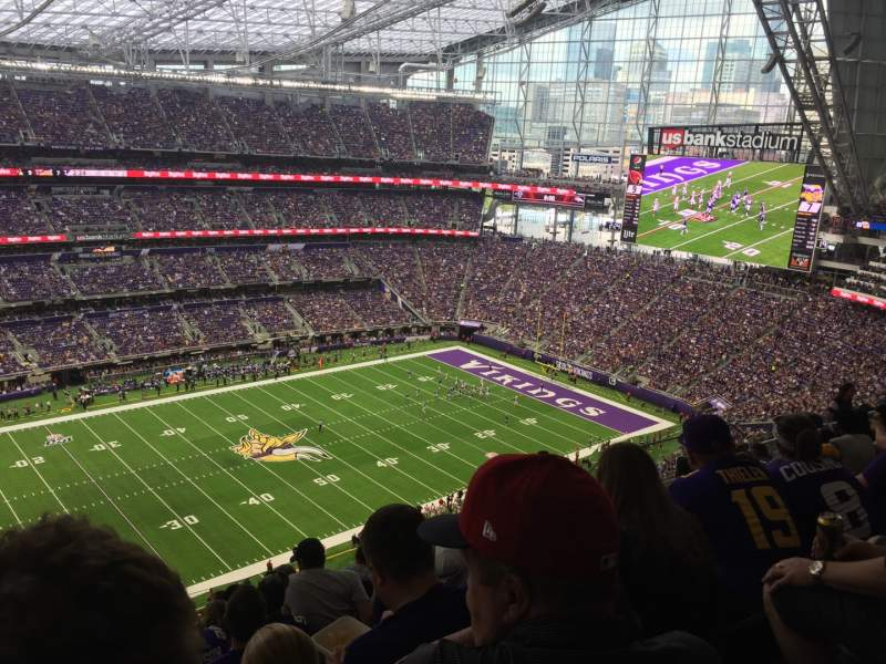 Uitzicht voor U.S. Bank Stadium Vak 315 Rij 11 Stoel 26