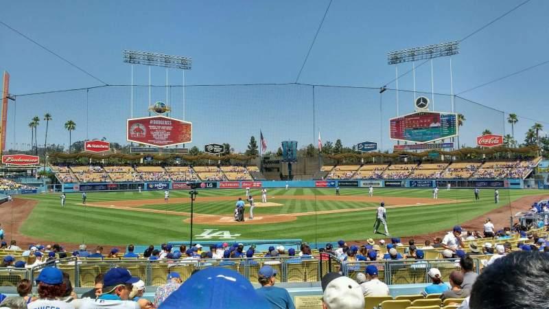 Uitzicht voor Dodger Stadium Vak 2FD Rij k Stoel 10