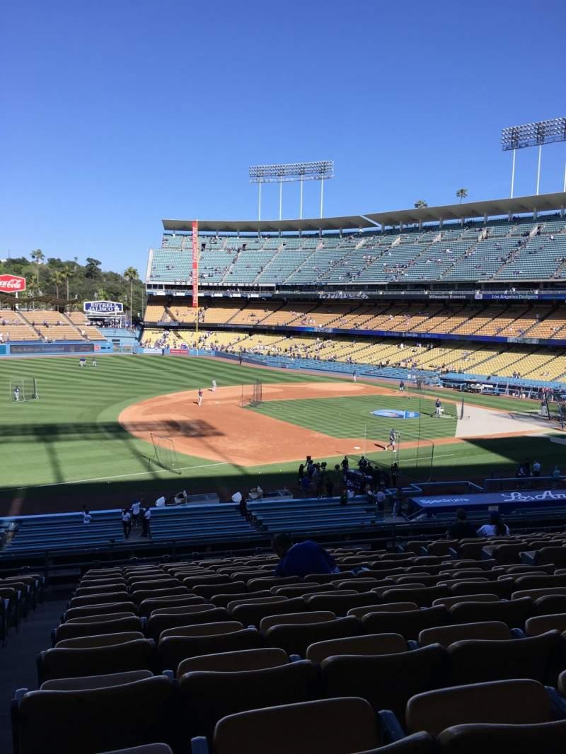 Uitzicht voor Dodger Stadium Vak 143LG Rij N Stoel 8