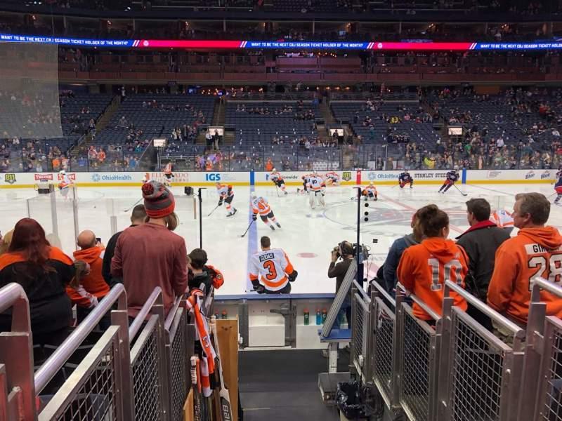 Nationwide Arena, vak: 104, rij: J, stoel: 15