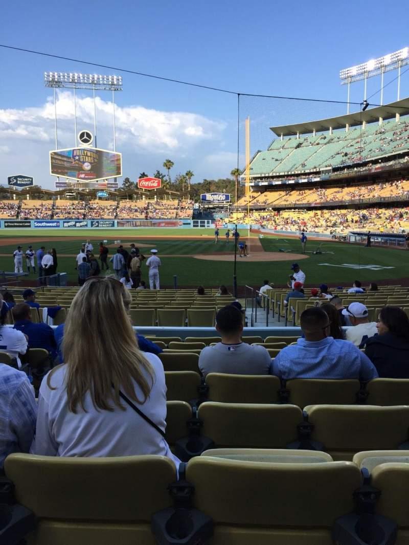 Dodger Stadium, vak: 9FD, rij: J, stoel: 5
