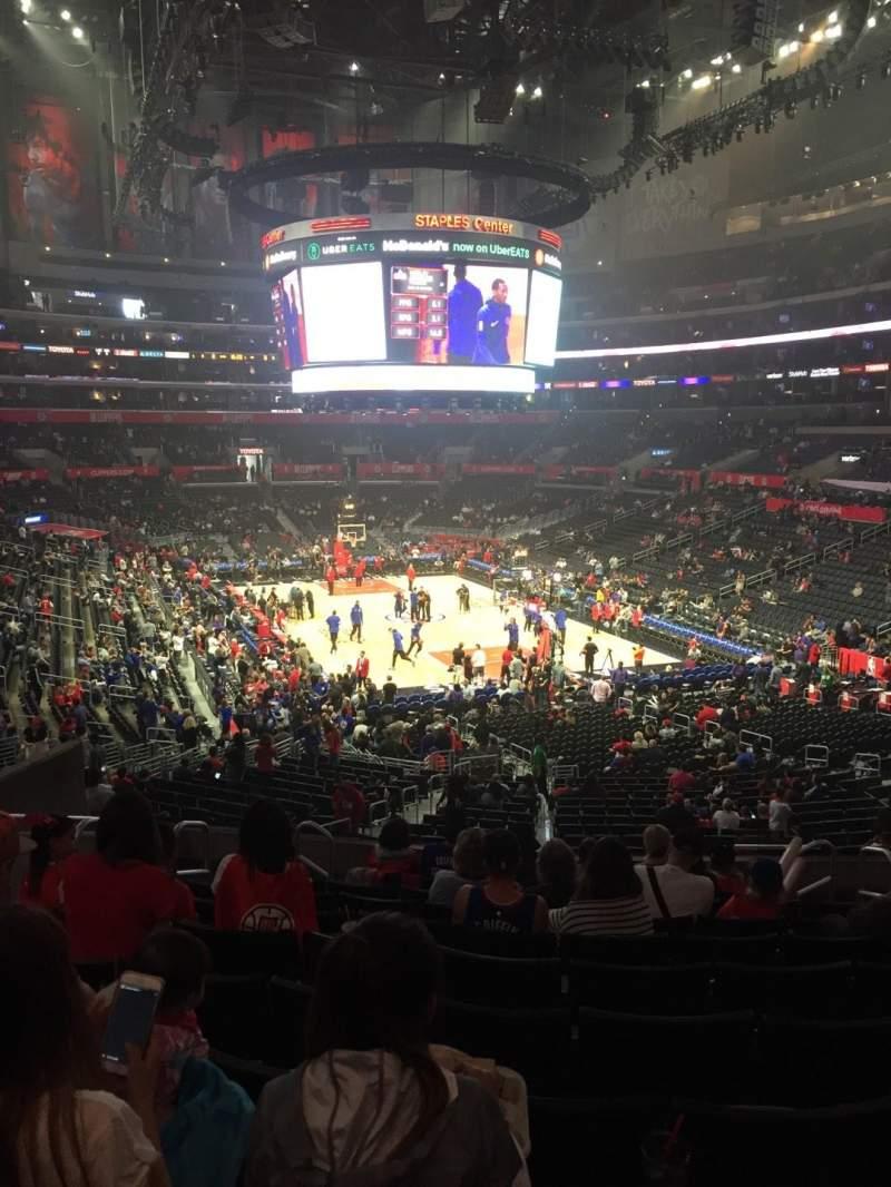 Staples Center, vak: 219, rij: 10, stoel: 11