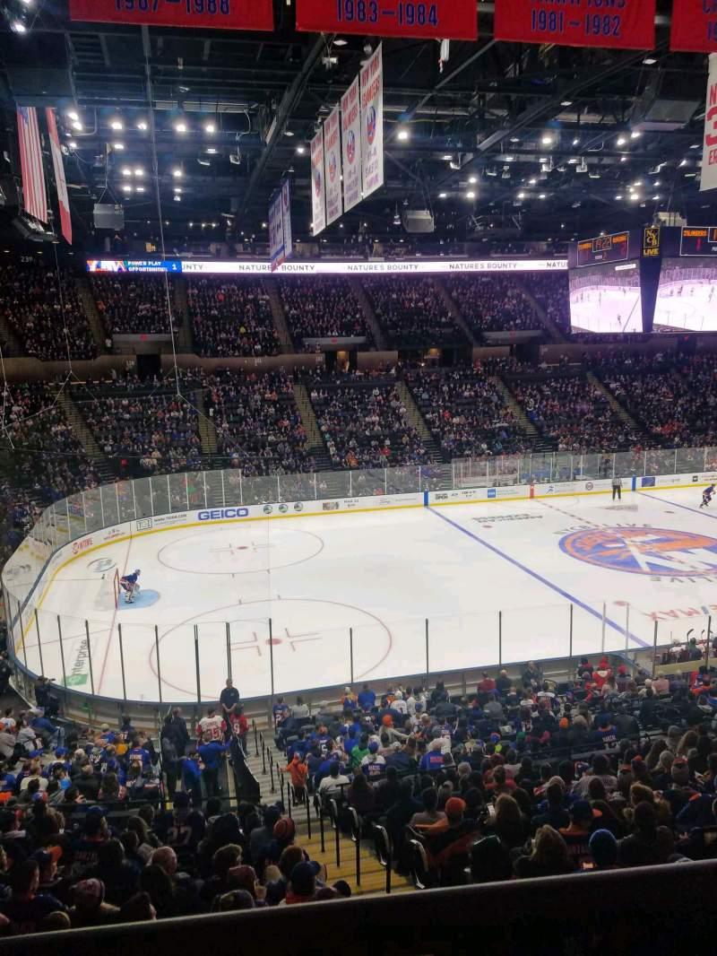 Uitzicht voor Nassau Veterans Memorial Coliseum Vak 225 Rij 1 Stoel 1