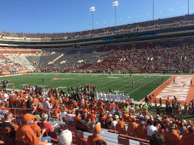 Uitzicht voor Texas Memorial Stadium Vak 2 Rij 28 Stoel 1