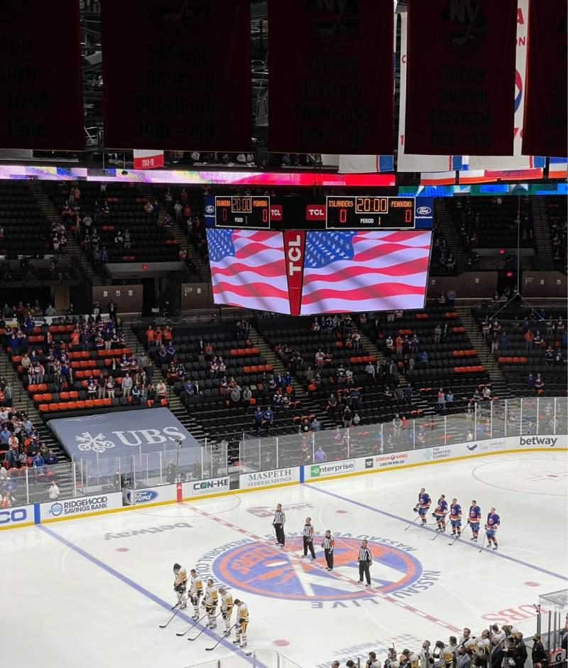 Uitzicht voor Nassau Veterans Memorial Coliseum Vak 226 Rij 9 Stoel 8