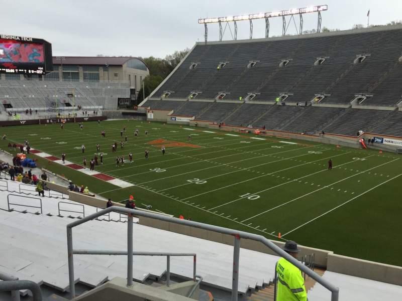 Uitzicht voor Lane Stadium Vak 20 Rij Rr Stoel 4