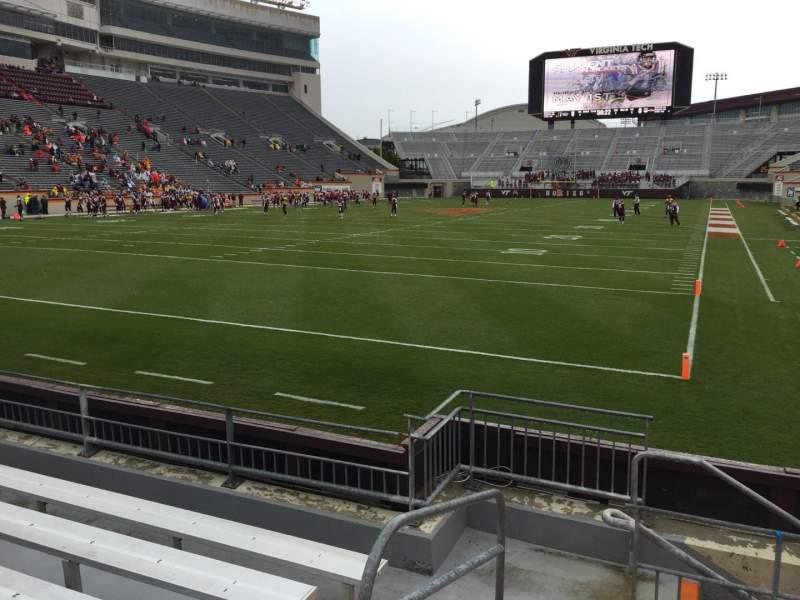 Uitzicht voor Lane Stadium Vak 101 Rij F Stoel 13