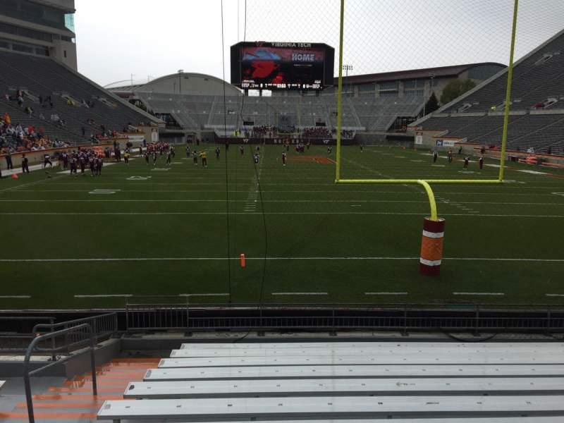 Uitzicht voor Lane Stadium Vak 103 Rij M Stoel 27