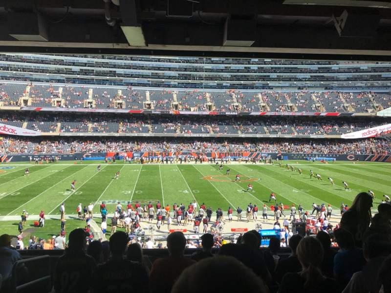 Soldier Field, vak: 239, rij: 7, stoel: 3