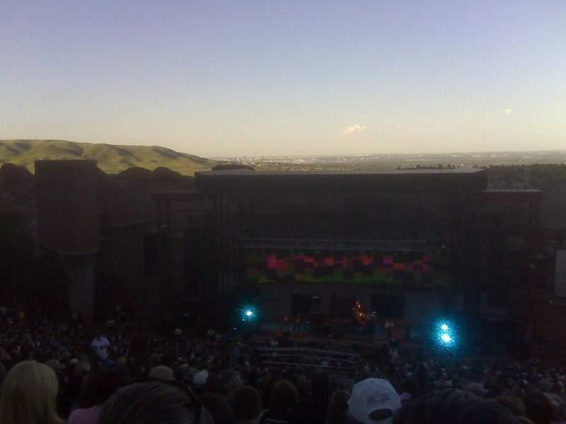 Red Rocks Amphitheatre, vak: Reserved, rij: 38, stoel: 72