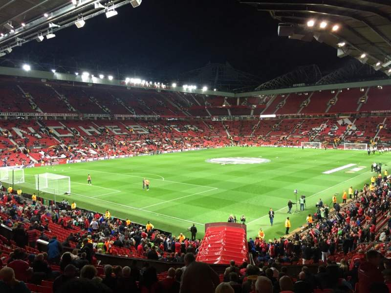 Old Trafford, vak: W210, rij: 21, stoel: 65