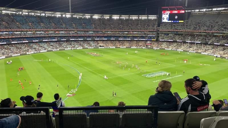 Uitzicht voor Melbourne Cricket Ground Vak Q52 Rij C Stoel 19