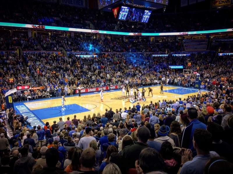 Chesapeake Energy Arena, vak: 107, rij: N, stoel: 16
