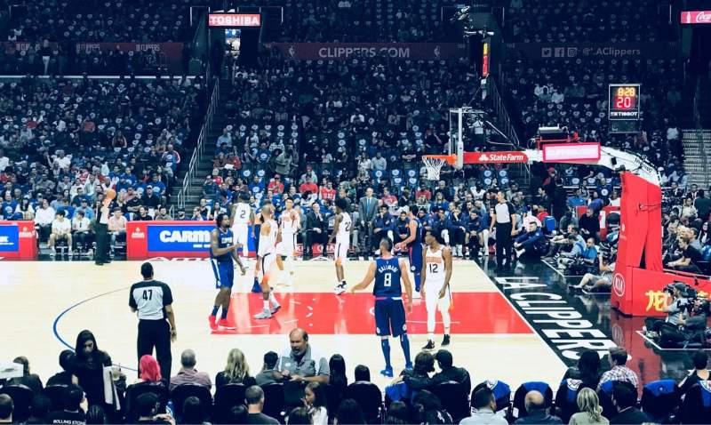 Staples Center, vak: 110, rij: 13, stoel: 12