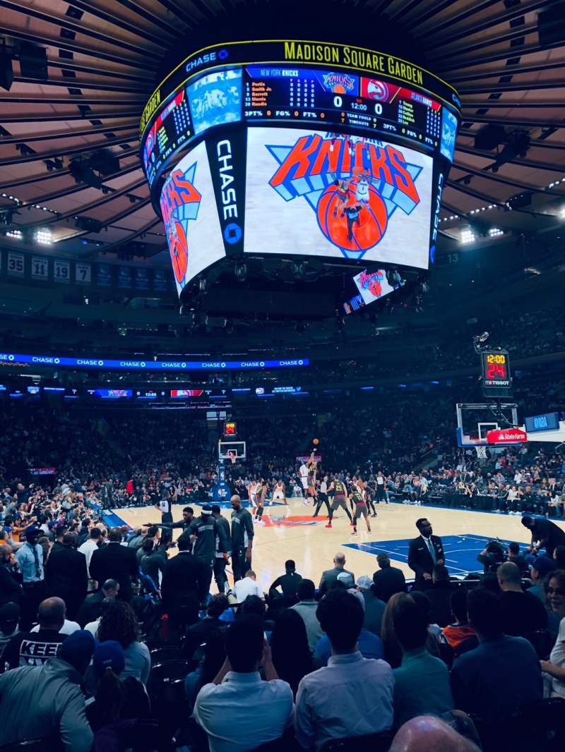 Uitzicht voor Madison Square Garden Vak 7 Rij 10 Stoel 1